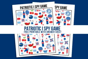 Patriotic I Spy Printable | Game for Kids