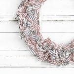 Patriotic Wreath using Ticking Fabric | Farmhouse Inspired