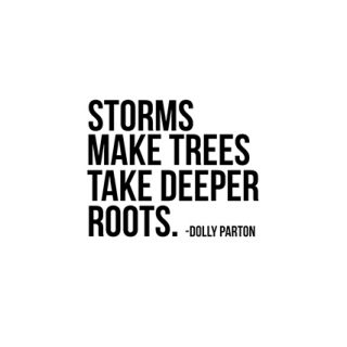 "July 2017 Calendar with inspirational quote by Dolly Parton, ""Storms make trees take deeper roots."" Print yours at livelaughrowe.com"