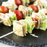 BLT Skewers with Grilled Cheese Bites