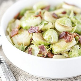 A dish with rustic flavors, these Bacon Brussels Sprouts won't disappoint. Recipe at livelaughrowe.com