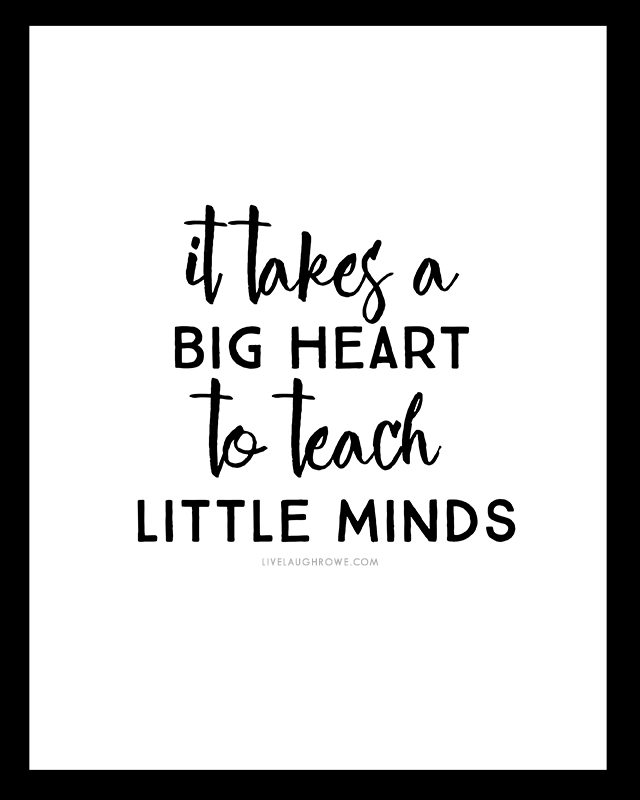 photograph about It Takes a Big Heart to Shape Little Minds Printable titled Free of charge Printables for Academics Instructor Presents - Stay Snicker Rowe