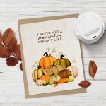 "Ahhh. I love fall and this free fall printable is beautiful! ""I never met a pumpkin I didn't like."" Available at livelaughrowe.com"