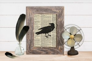 Halloween Crow Decor| Free Printable