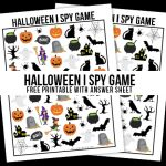 Halloween I Spy Printable | Game for Kids