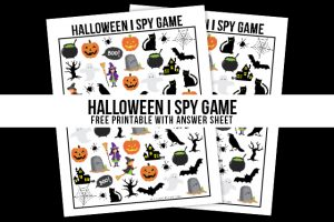 A Halloween I Spy Printable is the perfect way to entertain the kids before trick or treating! Hosting a Halloween Party? Free answer sheet and answer key too! Print yours at livelaughrowe.com
