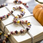 How to String Indian Corn Seeds | Autumn Garland