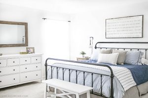 Farmhouse Inspired Master Bedroom Makeover (Before we moved!)