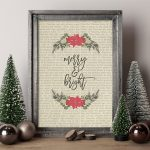 Merry and Bright Print | 25+ Free Christmas Printables