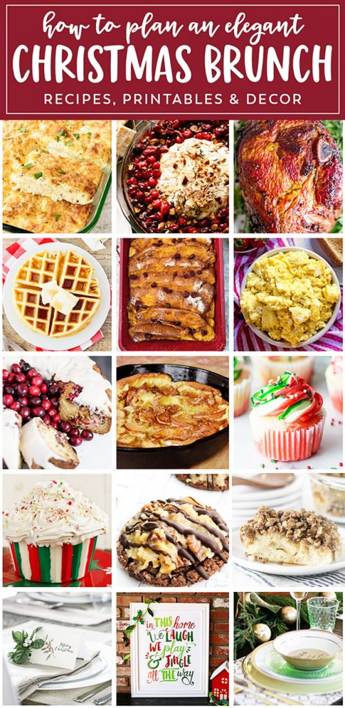 Christmas Brunch ideas from a fabulous food to entertaining! livelaughrowe.com