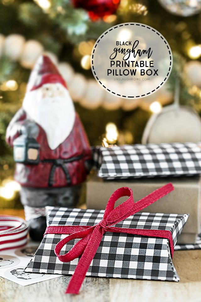 If you find yourself in need of a last minute gift -- grab a gift card and this printable pillow box to look like you've been prepared for weeks. Print yours at livelaughrowe.com