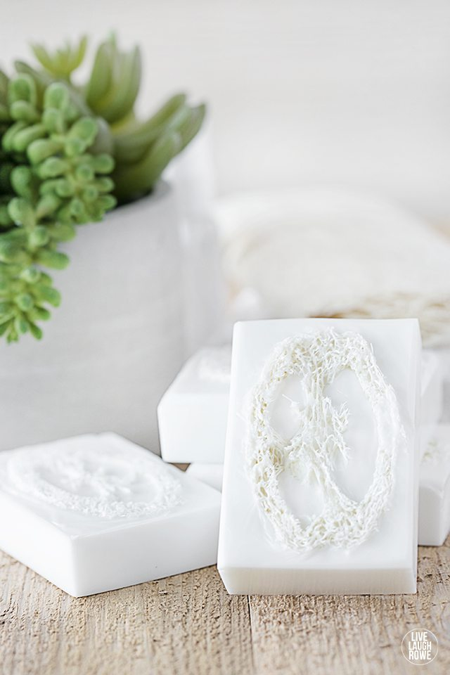 Learn how to make loofah soap -- it's super simple and makes a great gift! Tutorial at livelaughrowe.com