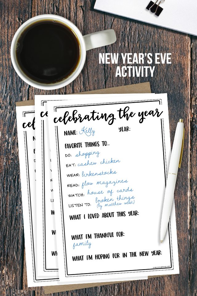 New Year\'s Eve Activity | Celebrating the Year - Live Laugh Rowe