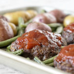 Sheet Pan Recipe for a Mini Meatloaf Dinner