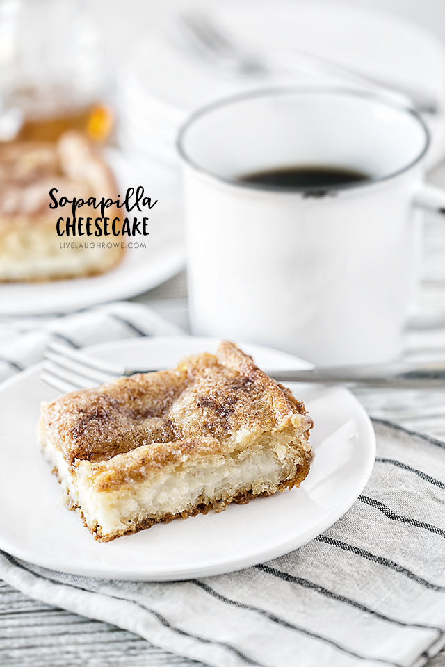 This Sopapilla Cheesecake Recipe will be your new go-to dessert for all the upcoming potlucks! It's rich, creamy and filling. Recipe at livelaughrowe.com