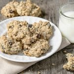 Easy Oatmeal Raisin Cookies with Walnuts