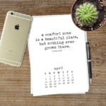 Free Printable Calendar for 2019 with Inspirational Quotes
