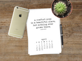 2019 Free Printable Calendar is truly inspiring due to all the beautiful quotes used for each month. Be sure to print yours at livelaughrowe.com