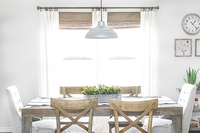 Neutral Window Treatments | Farmhouse Style - Live Laugh Rowe