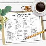 New Home Necessities Checklist | Printable Resource