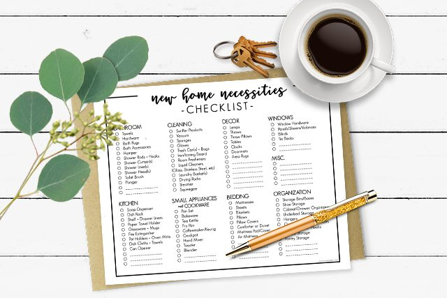 2094d92ad New Home Necessities Checklist
