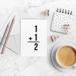 Minimalistic Printable Greeting Cards for Him and Her
