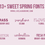 13+ Creative Fonts for Spring