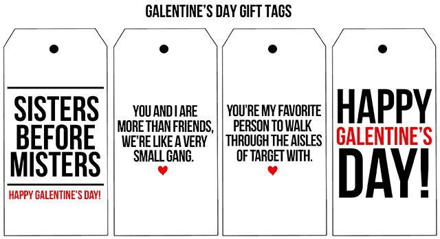 Free Printable Gift Tags For Galentine S Day Celebrate Your Girlfriends