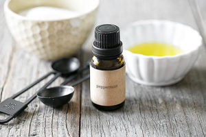 A simple hydrating and healing Homemade Lip Scrub Recipe -- and add an essential oil of choice too! Simple three ingredient recipe at livelaughrowe.com