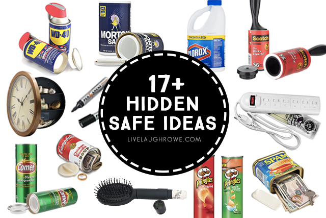 Have you ever wanted to have a couple of secret hiding places? Maybe a place for cash, valuables,etc. Here are 17+ Hidden Safe Ideas that you can put to good use and no one will know the difference. livelaughrowe.com