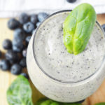 Blueberry Spinach Smoothie (Dairy Free, Two Ways)