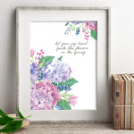 Spring Flowers Burst with Joy | Watercolor Hydrangeas