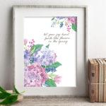 Spring Flowers Burst with Joy | Watercolor Hydrangeas