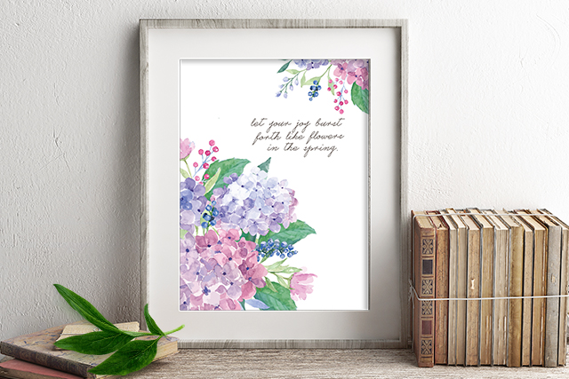 photo regarding Flowers Printable called Spring Bouquets Burst with Happiness Watercolor Hydrangeas - Reside