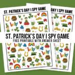 St. Patrick's Day Activity for Kids   I Spy Game Printable