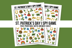 St. Patrick's Day Activity for Kids | I Spy Game Printable
