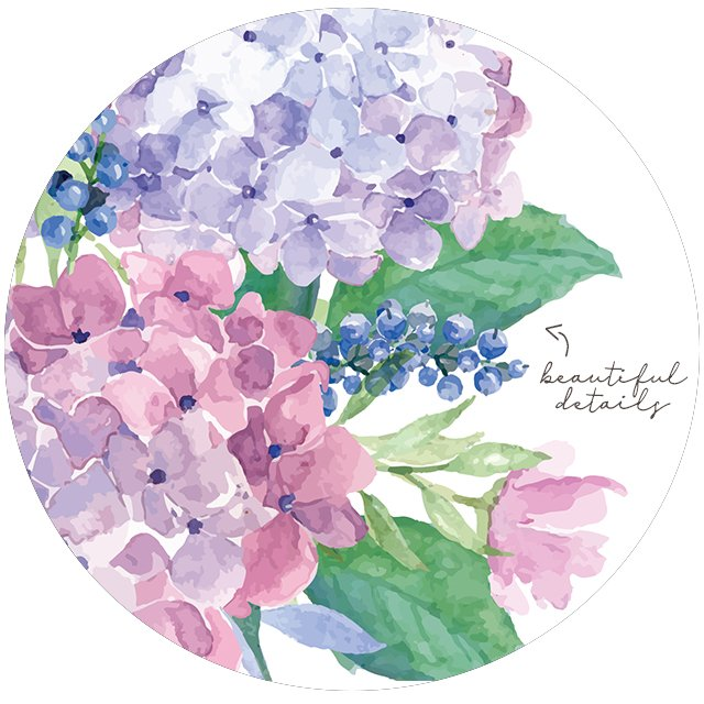 """Let your joy burst forth like flowers in the spring."" What a great quote -- spring flowers do burst forth with joy and we should follow their lead! Beautiful watercolor hydrangeas amongst these FREE printable flowers at livelaughrowe.com"