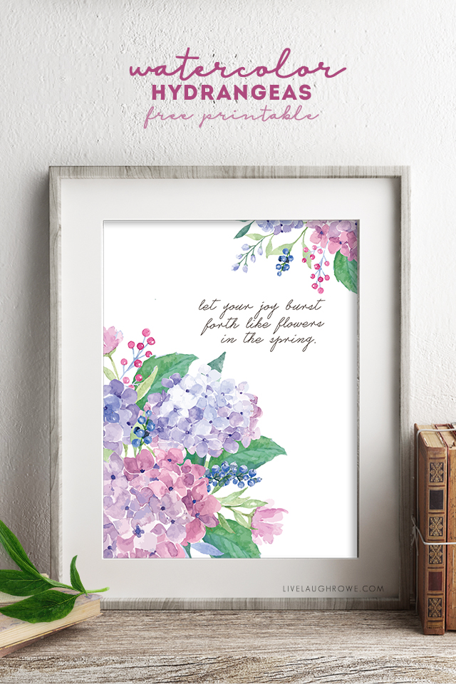 graphic about Flowers Printable titled Spring Bouquets Burst with Pleasure Watercolor Hydrangeas - Are living