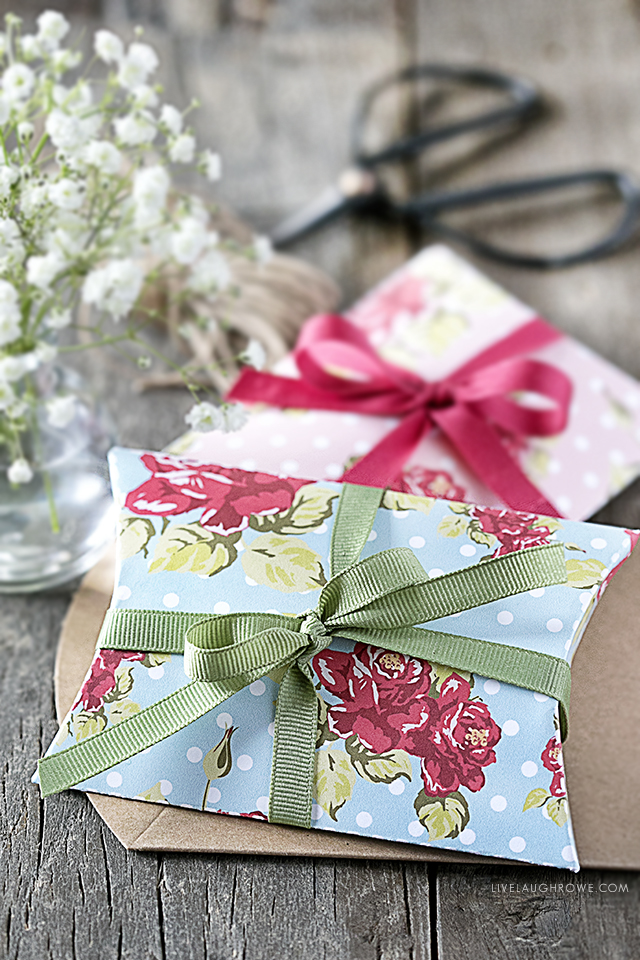 Shabby Chic Pillow Box Template Free Printable Live