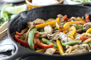 How to Make Chicken Fajitas in a Cast Iron Skillet