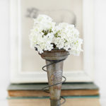 Trash to Treasure | Old Bed Spring Vase Holder