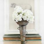 Trash to Treasure   Old Bed Spring Vase Holder