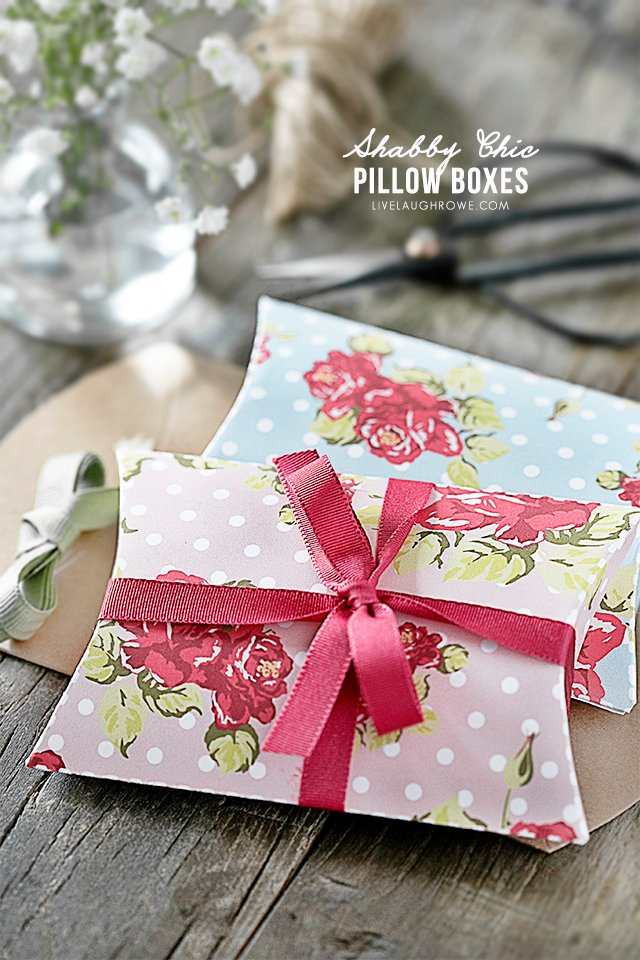 Shabby Chic Pillow Box Template | Free Printable! - Live Laugh Rowe