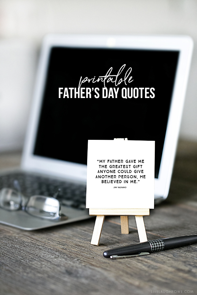 Free fun size printables with some of the best Father's Day quotes and scripture on them! Great for his briefcase, coat pocket, wallet and so much more. Visit livelaughrowe.com for more details.