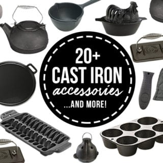 20+ Cast Iron Accessories that will inspire you to explore the world of cast iron skillet cooking. livelaughrowe.com