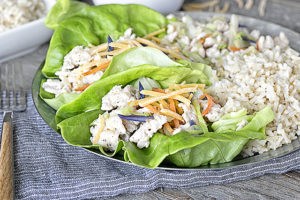 Ground Turkey Lettuce Wraps. Weight Watchers Recipe.