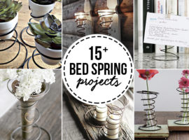 Vintage lovers rejoice! 15+ Vintage Bed Spring Crafts to inspire you. From picture holders to vases, you're sure to find some inspiration. More at livelaughrowe.com