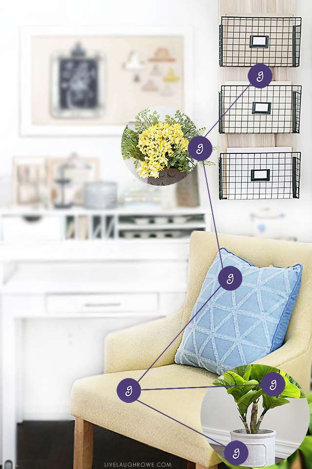 How to accomplish a Home Office Refresh in THREE easy steps -- and without breaking the bank! More at livelaughrowe.com