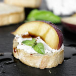 Goat Cheese and Peach Crostini