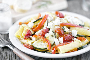 Pasta with Roasted Vegetables, Rosemary and Feta | WW Recipe